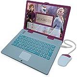 LEXIBOOK- Disney Frozen 2 - Ordenador portátil Educativo y bilingüe español/inglés - Juguete para niñas con 124 Actividades p