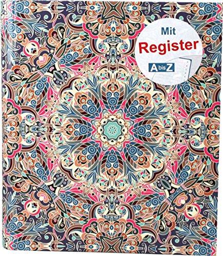 """RNK 46702 Ringbuch, für DIN A5 mit Register A-Z,\""""Orient\"""""""
