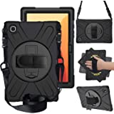 """ProElite Rugged 3 Layer Armor case Cover for Samsung Galaxy Tab A7 10.4"""" SM-T500/T505/T507 Hand Grip and Rotating Kickstand,"""