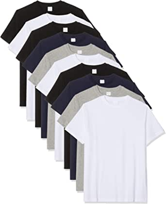 Luigi Bottoni Men's T-Shirt, Pack of 10