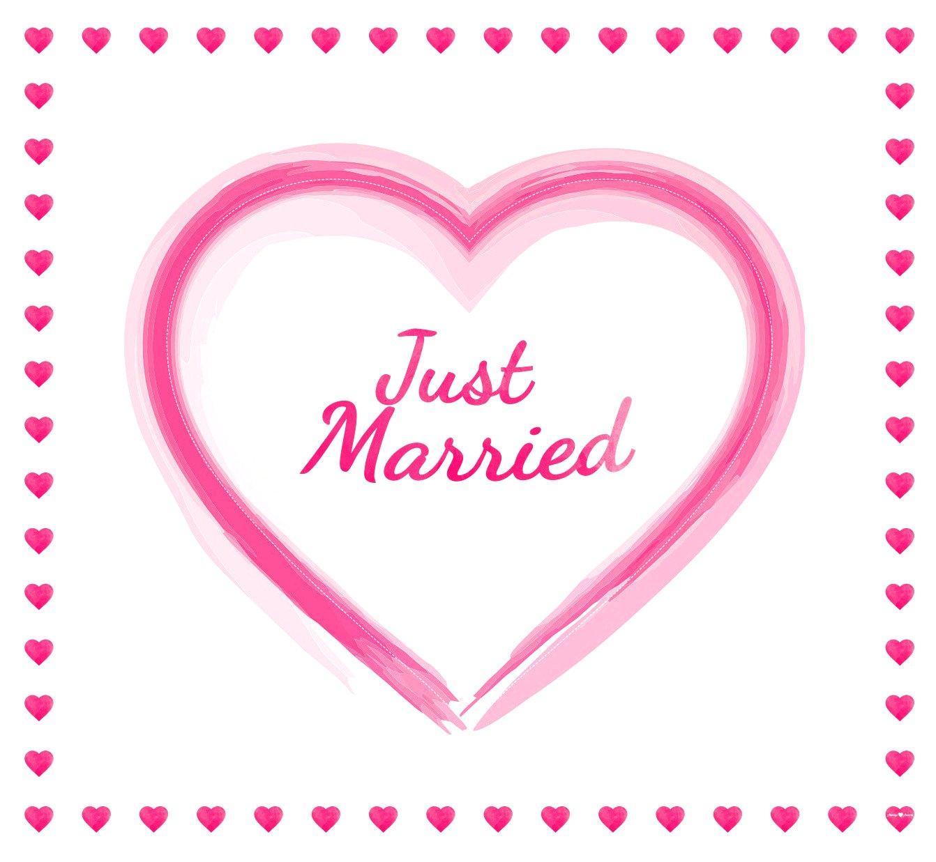 Always Amore® Hochzeitsherz zum Ausschneiden, hochwertiger Stoff und extrastarke Schlaufen, Hochzeitsgeschenk, Herzmotiv…