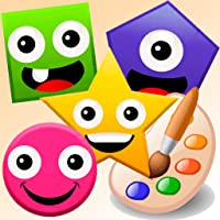 Funny Shapes. Drawing and coloring basic Shapes. Preschool for Kids