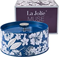 La Jolie Muse Bougie Parfumée 400g Bougie Cadeau 100% Soy Wax Cire De Thé Blanc Naturelle 2 Grandes Mèches De Canette 95 Heures
