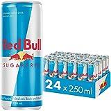 Red Bull Energy Drink Sugar Free 24 Pack of 250 ml, Sugarfree