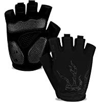 MOREOK Cycling Gloves Bike Gloves for Men Women,5MM SBR Gel Pad Half Finger Biking Glove MTB DH Road Bicycle Gloves…