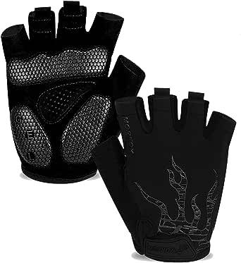 MOREOK Cycling Gloves Bike Gloves for Men Women,5MM SBR Gel Pad Half Finger Biking Glove MTB DH Road Bicycle Gloves Shock-Absorbing Mountain Bike Gloves
