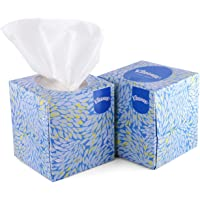 KLEENEX® Facial Tissue Cube 60039-2 ply Face Tissue - 2 Tissue Boxes x 50 Facial Tissues - Sheet Size 21 x 21 cm (100…