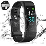 24HOCL Smart Watch Fitness Tracker with Temperature Measurement Heart Rate Sleep Monitor, Waterproof Sports Wristband Step Ca