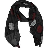 Zwillingsherz Seiden-Tuch im Punkt Design - Hochwertiger Schal für Damen Mädchen - Halstuch - Umschlagstuch - Loop…