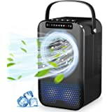 Climatiseur Portable,Mini Refroidisseur d'air avec Ventilateur Climatiseur Mobile Personnel pour Bureau Chambre 3 Vitesses,2/