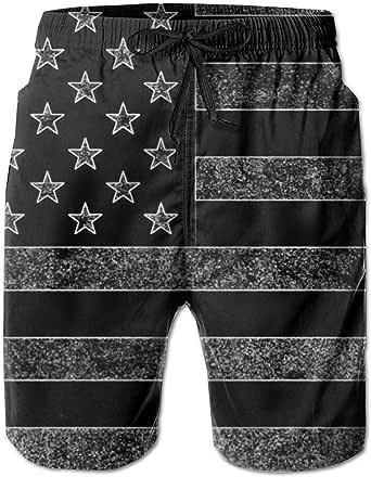 XUSHEJA Mens Cool Board Shorts Swim Trunks Beach Shorts with Pockets for Beach