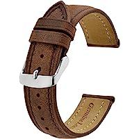 BISONSTRAP Cinturini Orologio, Cinturini di Ricambio in Pelle Vintage, Larghezza Cinturino 14mm 15mm 16mm 17mm 18mm 19mm…