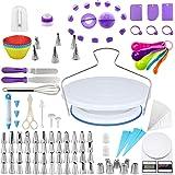 Kit de Pâtisserie 143 pcs Décoration, Plateau Tournant de Gâteau, Décoration Ustensiles en Silicone, outils de cuisson multif