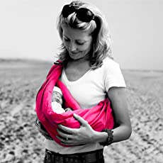 Kurtzy Ergonomic Baby Sling Carrier Lightweight Wrap Swaddle Holder Sleeping Bag with Soft Cotton Material for Newborn Infants Rose