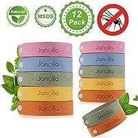 Janolia Mückenschutz Armband, 12 Stück Insektenschutz-Armband, Reusable Repellent Wristband, Sicheres Deef-Freies und...