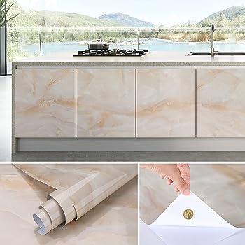 KINLO 0.61 X 5 M Aufkleber Küchenschränke Selbstklebende PVC Tapeten Möbel  Schrank Einfach Zu Kleben Wasserfest Fliesenaufkleber Für Küche Und Bad ...