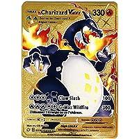 RULY Cartes Français Pokemon GX V Vmax, Cartes à Collectionner Pokémon, Acier Inoxydable, plaqué Or, Jouets créatifs (1…