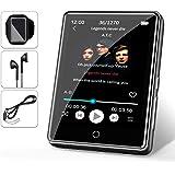"32G Reproductor MP3 Bluetooth 5.0 JBHOO 2.8"" MP3 Running con Altavoz, FM Radio, Podómetro, Grabación, Soporte de Pantalla Tác"