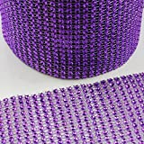 Beads4Crafts WEDDING CAKE BLING TRIM 1 Metre DIAMONTE SPARKLY RIBBON BRIDAL DIAMOND EFFECT : FREE UK POSTAGE (Purple H2131, 6 Rows)