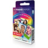 Polaroid 2x3 inch Rainbow Border Zink Photo Paper Twin Pack (20 Sheets)