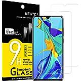 NEW'C 2-pack skärmskydd med Huawei P30 – Härdat glas HD klar 9H hårdhet bubbelfritt
