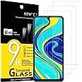 NEW'C 3-Stuks, Screen Protector voor Xiaomi Redmi Note 9S, Redmi 9 Pro, Redmi 9 Pro Max, Gehard Glass Schermbeschermer Film 0