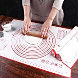 AYADA Tapis Patisserie, Grande Taille Tapis de Cuisson en Silicone, Tapis de Fondant pour Gâteau, Réutilisable Antiadhésif An