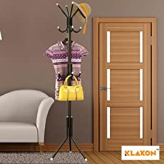 Klaxon Wrought Iron Coat Rack Hanger - Wrought Iron Racks Standing Coat Rack - Black
