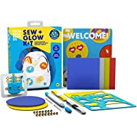Tech Will Save Us Sew & Glow Arts and Crafts DIY Kit, Toy, Gift for Boys, Girls, Kids ages 8 to 12