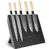 ceuao Bloc Couteaux magnétique sans Couteaux,Porte-Couteau magnétique,Rangement Couteau De Cuisin Aimant pour Couteaux…