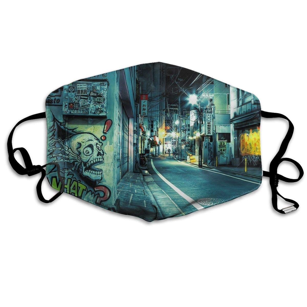 Vbnbvn Boca Máscara,Mascarillas,Máscaras bucales,Anti Dust Mask Underground Hip Hop Anti Pollution Washable Reusable Mouth Masks for Man Woman