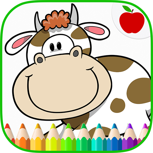Farm Animals Coloring Book & Art Game for Kids