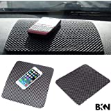 BKN Car Dashboard Mat Anti-Slip Gel, Non-Slip Mounting Pad for Cell Phone, Sunglasses, Keys and More (Black)