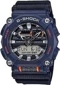 Casio G-Shock GA900-2A Montre analogique et numérique en résine pour homme Bleu