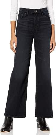 Marchio Amazon - Lizzy, Jeans a Vita Alta da Donna, Gamba Ampia, Stile Marine di The Drop