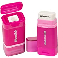 "Swordfish ""Combo"" Pencil Sharpener and Eraser – Pink"