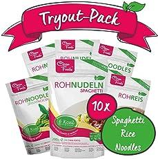 Confezione di combinazione: 5 Konjac Noodles, 4 Konjac Spaghetti, 1 Konjac Riso Rice, 200gr / sacchetto