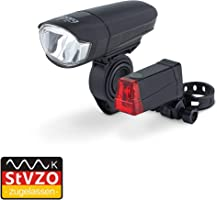 Dansi StVZO LED Fahrrad-Batterieleuchtenset, schwarz, One Size