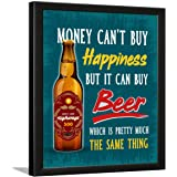 Chaka Chaundh Composite Wood Bar Beer Quotes Poster for Wall with Frame (Turquoise, 13.5 X 10.5 Inches)