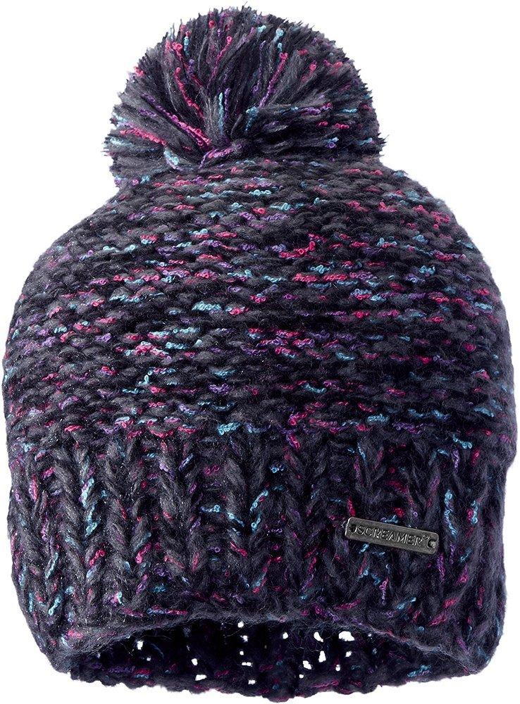 Screamer Women's Venezia Knit Beanie, Black Tweed, One Size