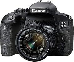 كانون اي او اس 800D EF-S 18-55mm F4-5.6 IS STM عدسة - 24.2 ميجابكسل، كاميرا دي اس ال ار، اسود