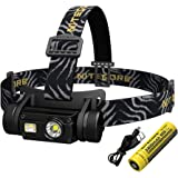 Nitecore HC65 LED Head Torch - USB Rechargeable 1000 Lumens - Triple Output IPX8 Waterproof Upgrade From HC60 Headtorch [ Bat