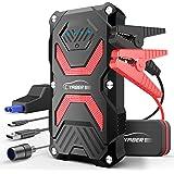 YABER Booster Batterie, 1000A 13800mAh Booster Batterie Voiture Moto (Jusqu'à 6.0L Essence 5.0L Gazole) avec Lamp LED,Deux Ports USB à Charge Rapide 3.0