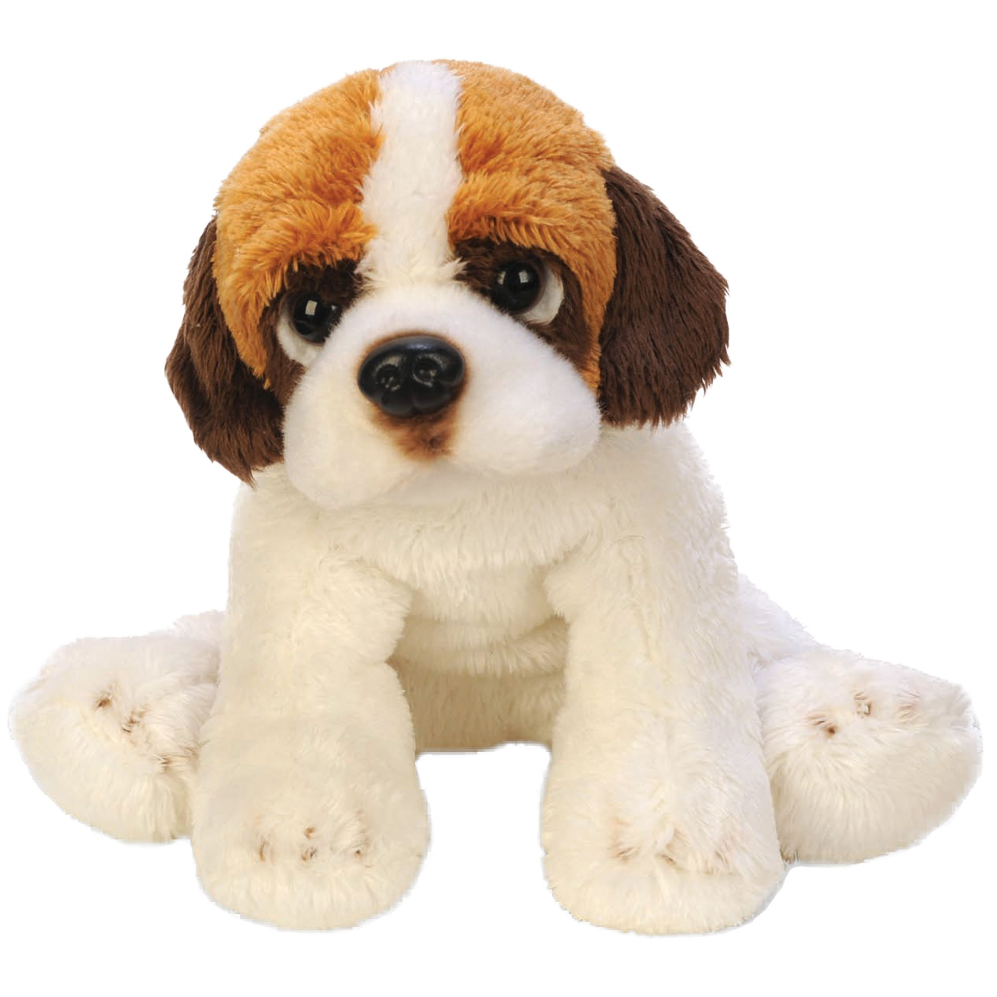 Top Selling Soft Plush Stuffed Cuddly Animal Toy – Small Sitting St. Bernard Dog – Well Done Being Brave Gift Idea For Children