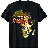 Fierté Africaine Motif Ethnique traditionnel Carte Afrique T-Shirt