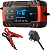 12V 8A / 24V 4A LCD touch car smart battery charger, car smart portable battery charger, pulse repair charger