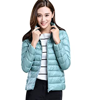 Alion Mens Packable Down Jacket Ultralight Coat Stand Collar Puffer Down Coats