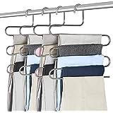 Pantalons Cintres, Multi-Usages Cintre en Acier Inoxydable de 5 Étages Conception pour Écharpes Jeans Vêtements Pantalons Ser
