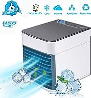 TTMOW Mini Raffreddatore D'aria USB Condizionatori Portatili Personale Air Cooler 3 IN1 Evaporativo Umidificatore...