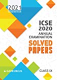 Solved Papers - Annual Examination: ICSE Class 9 for 2021 Examination